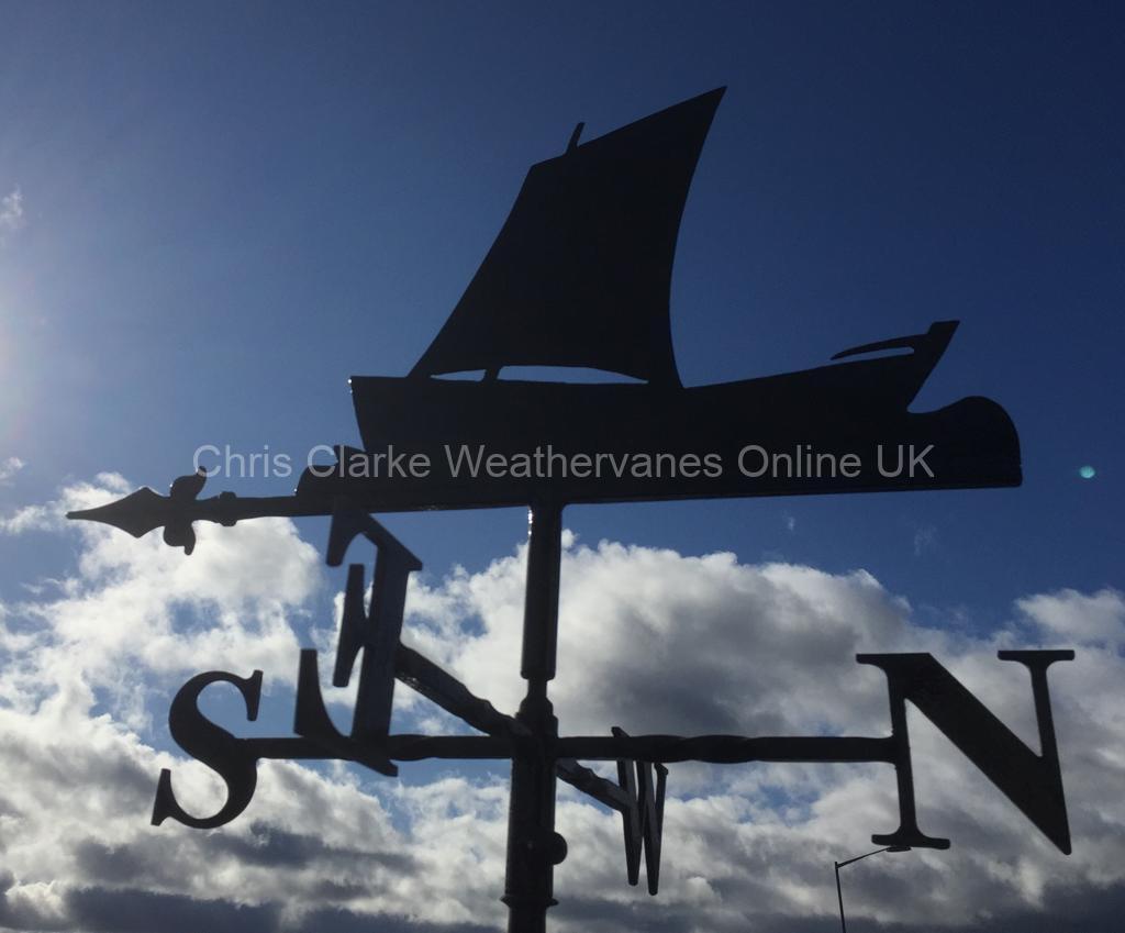 Coble-Boat-Weathervane