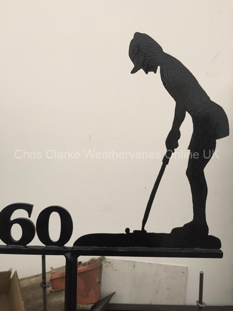 Lady-Golfer-Weathervane