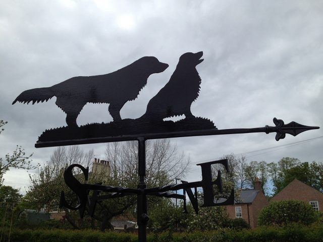 Two Dogs Weathervane