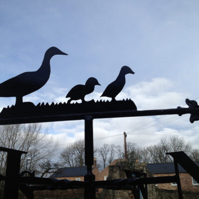 Duck & Ducklings Weathervane