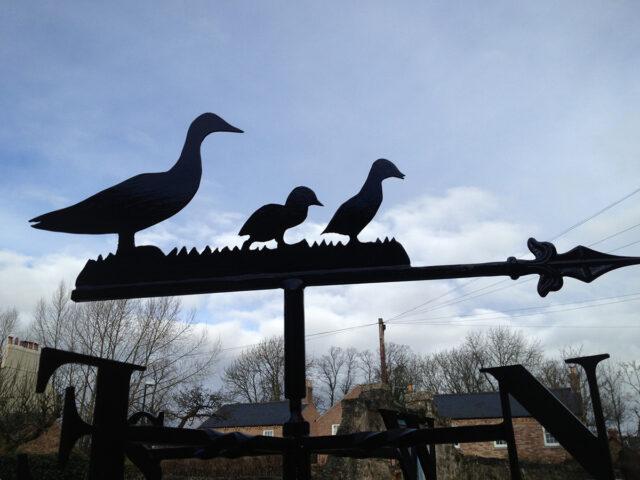 Duck & Ducklings Weathervane