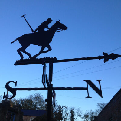 Polo Player Weathervane