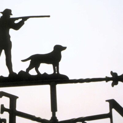 Shooter & Dog Weathervane