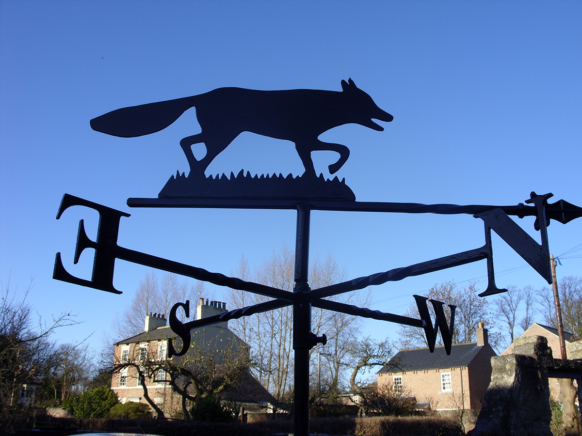 Weathervanes >> Fox Weathervane - Chris Clarke Weathervanes Online UK