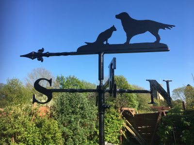 Cat and Dog Weathervane