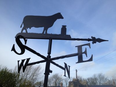 Cow with 1 Churn Weathervane