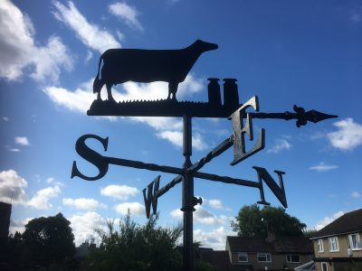 Cow with 2 Churns Weathervane