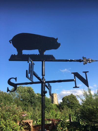 Shooter with Pheasant Weathervane